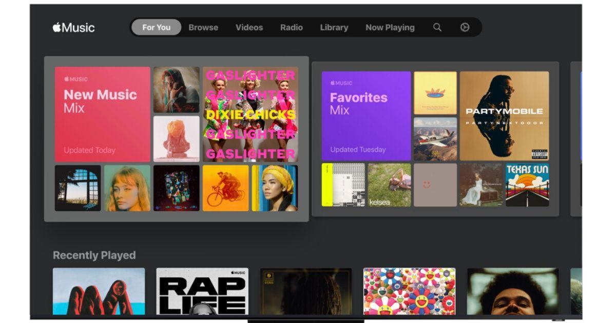 Apple Music na telewizorach Samsunga