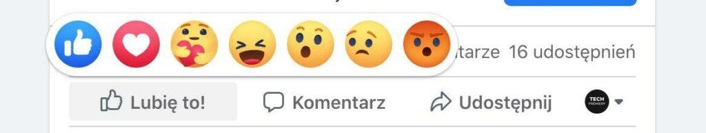 Nowa reakcja na Facebooku
