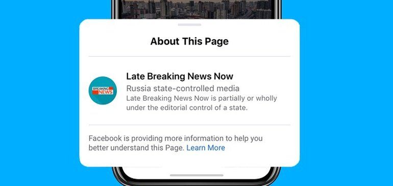 Facebook zaczął oznaczać media