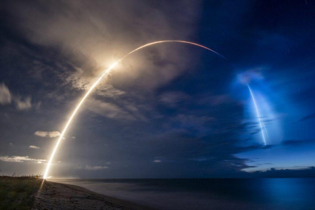 Kolejne satelity Starlink w kosmosie