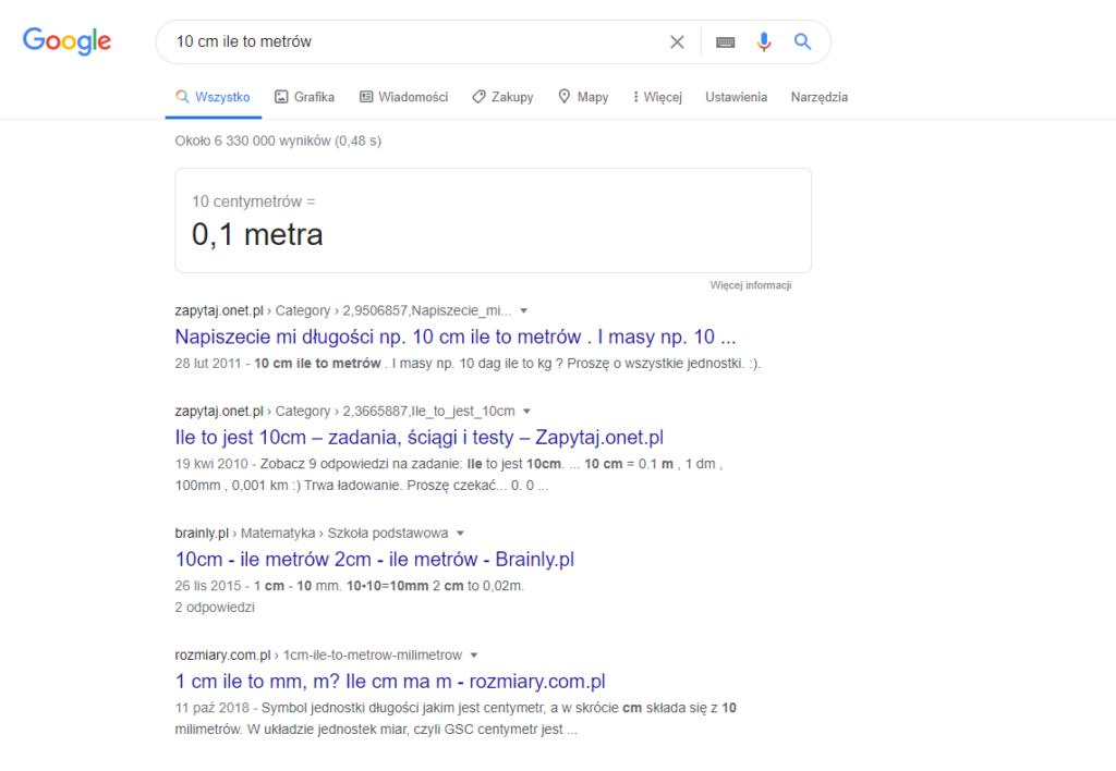 Triki w przeglądarce Google