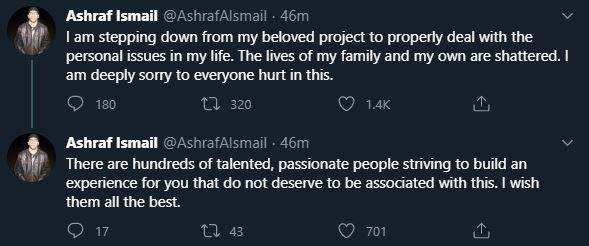 Ashraf Ismail rezygnuje z pracy
