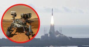 Łazik Perseverance w drodze na Marsa