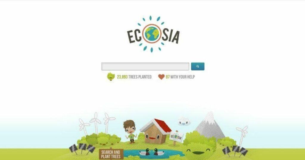 Ecosia zasadziła 100 mln