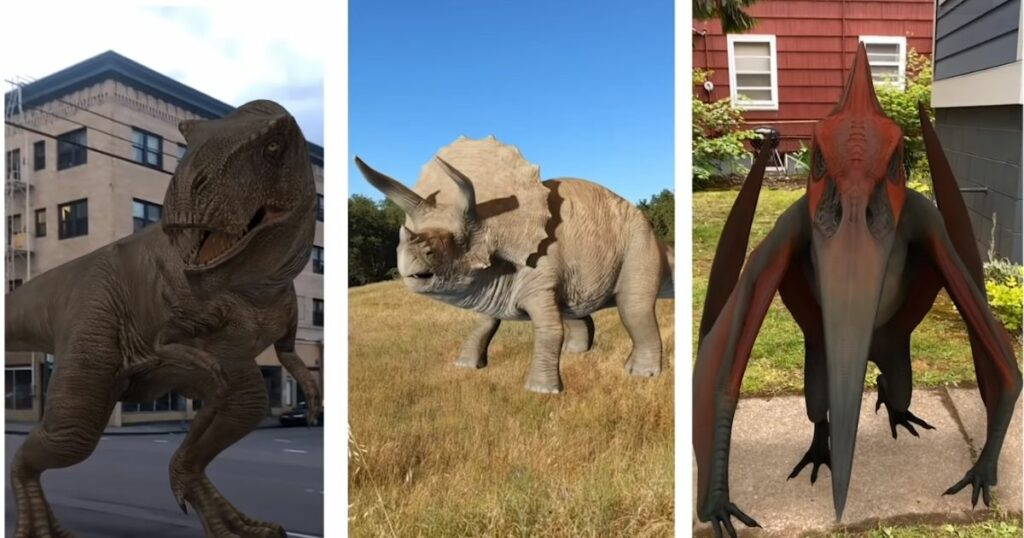 Google dodaje dinozaury