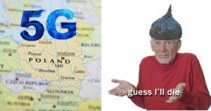 Mapa z masztami 5G w Polsce