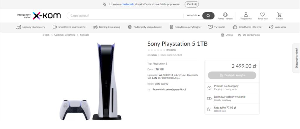 Polska cena PlayStation 5
