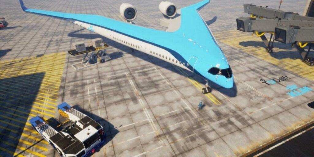 Samolot w kształcie litery V