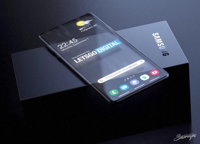Przeźroczysty telefon od Samsunga